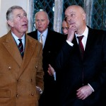 Prince Charles Prince of Wales visiting Ewenny Church on 13.2.13