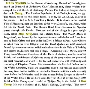 Maentwrog_from_dictionary_of_Wales_1811