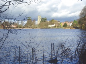Across Hanmer Mere to Church and Village