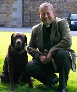 Father Andrew James and Coco