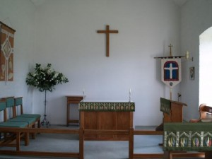 Close-up view of the sanctuary